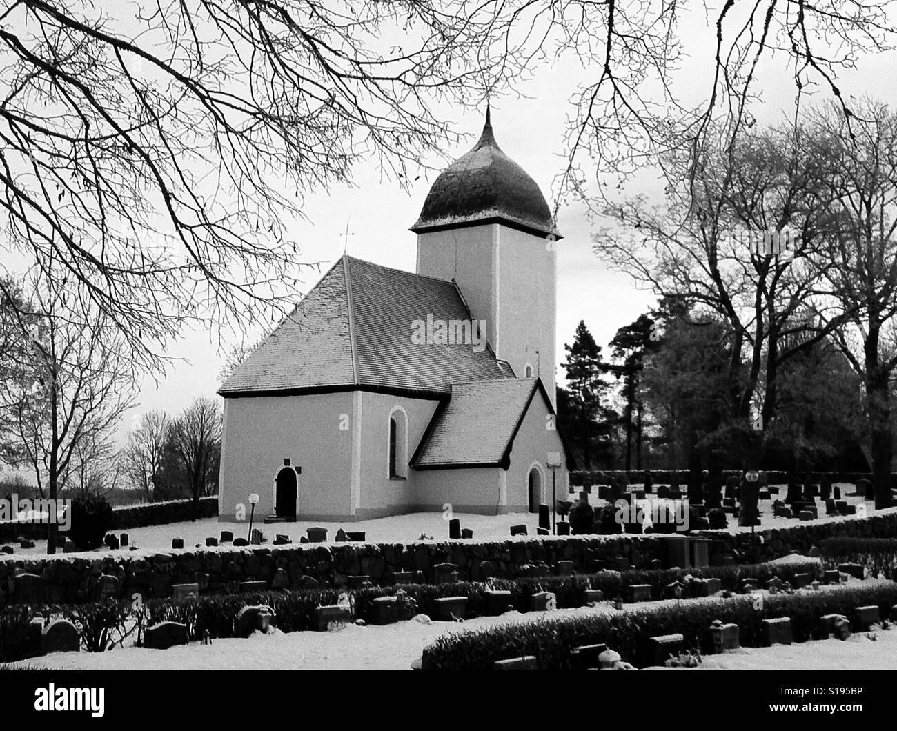 Église de Husby-Ärlinghundra en dehors de Märsta, Suède Banque D'Images
