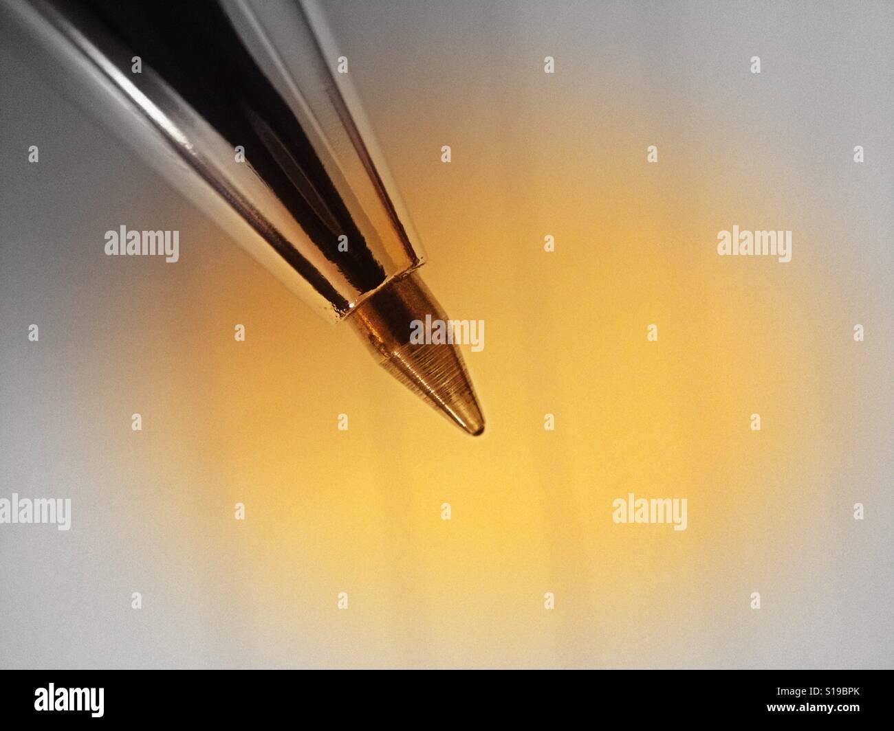 Close up d'un stylo à bille avec vignette filtre appliqué Banque D'Images