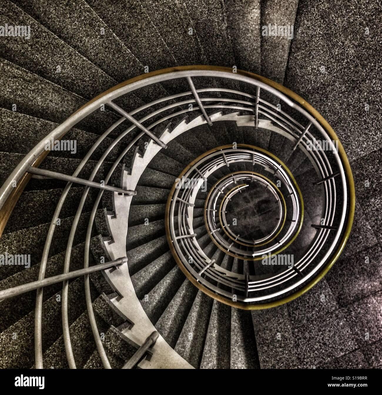Dans l'escalier, Suède. Sätra Banque D'Images