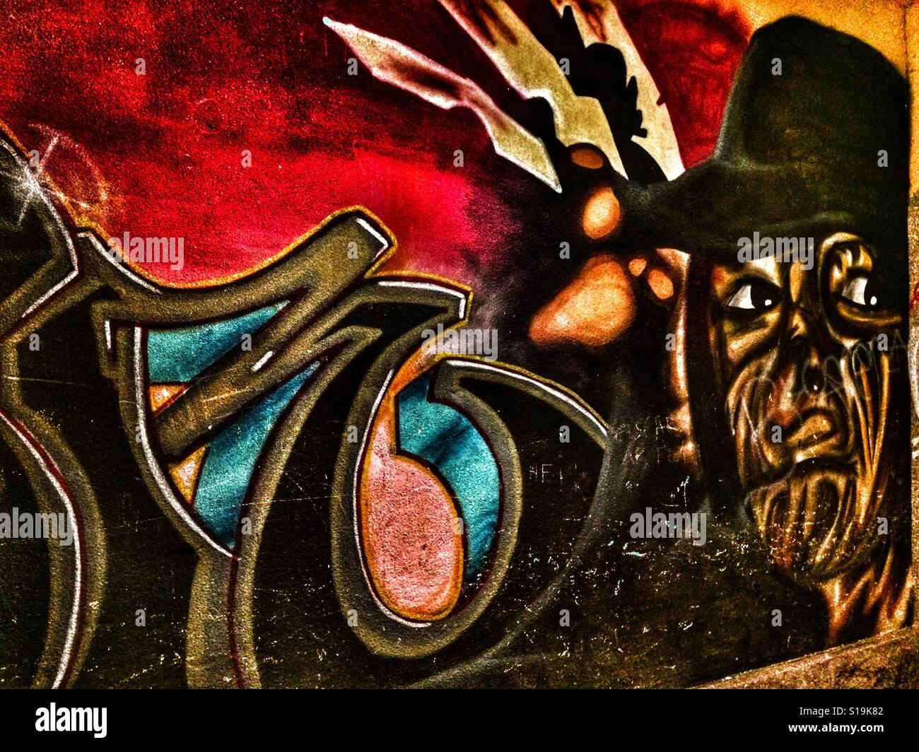 Graffiti à Mora, Suède. Banque D'Images