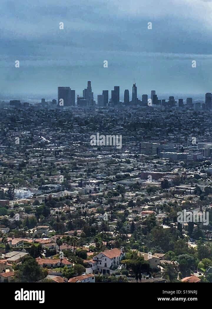 Los Angeles cityscape Banque D'Images