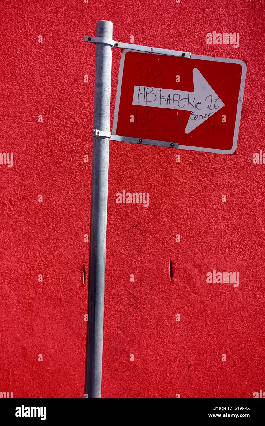 Inscrivez-vous sur la rue à Cape Town Banque D'Images