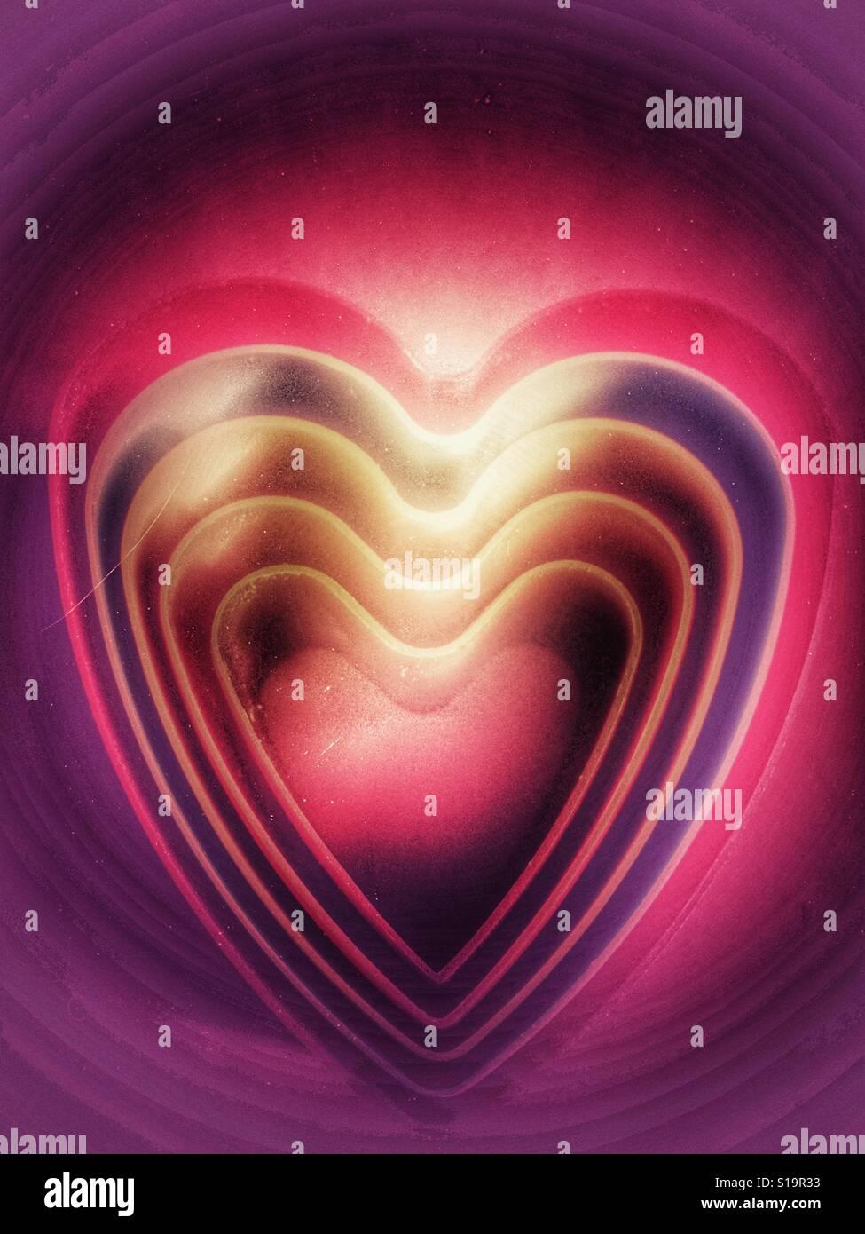 Emporte-pièce en forme de coeur en plastique Banque D'Images