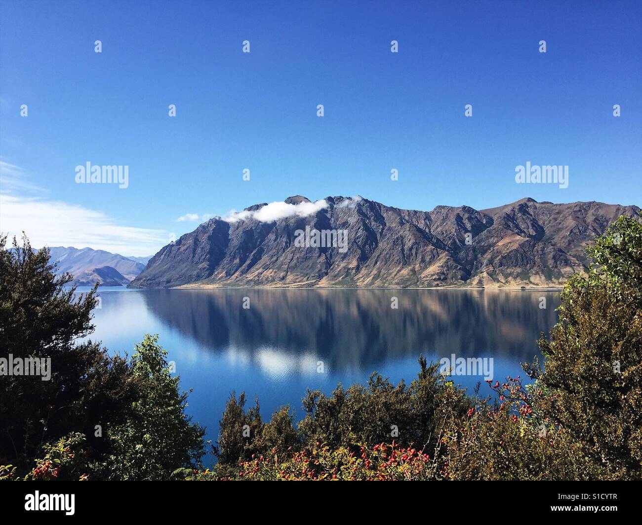 Lake Hawea - Nouvelle Zélande Photo Stock