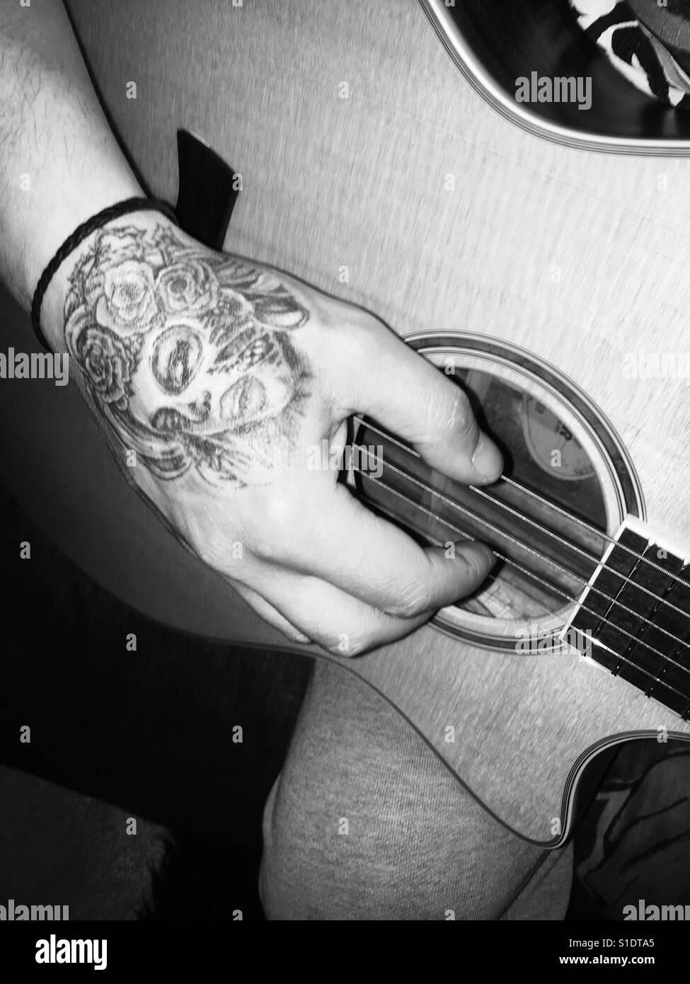Guitar Tattoo Photos Guitar Tattoo Images Alamy