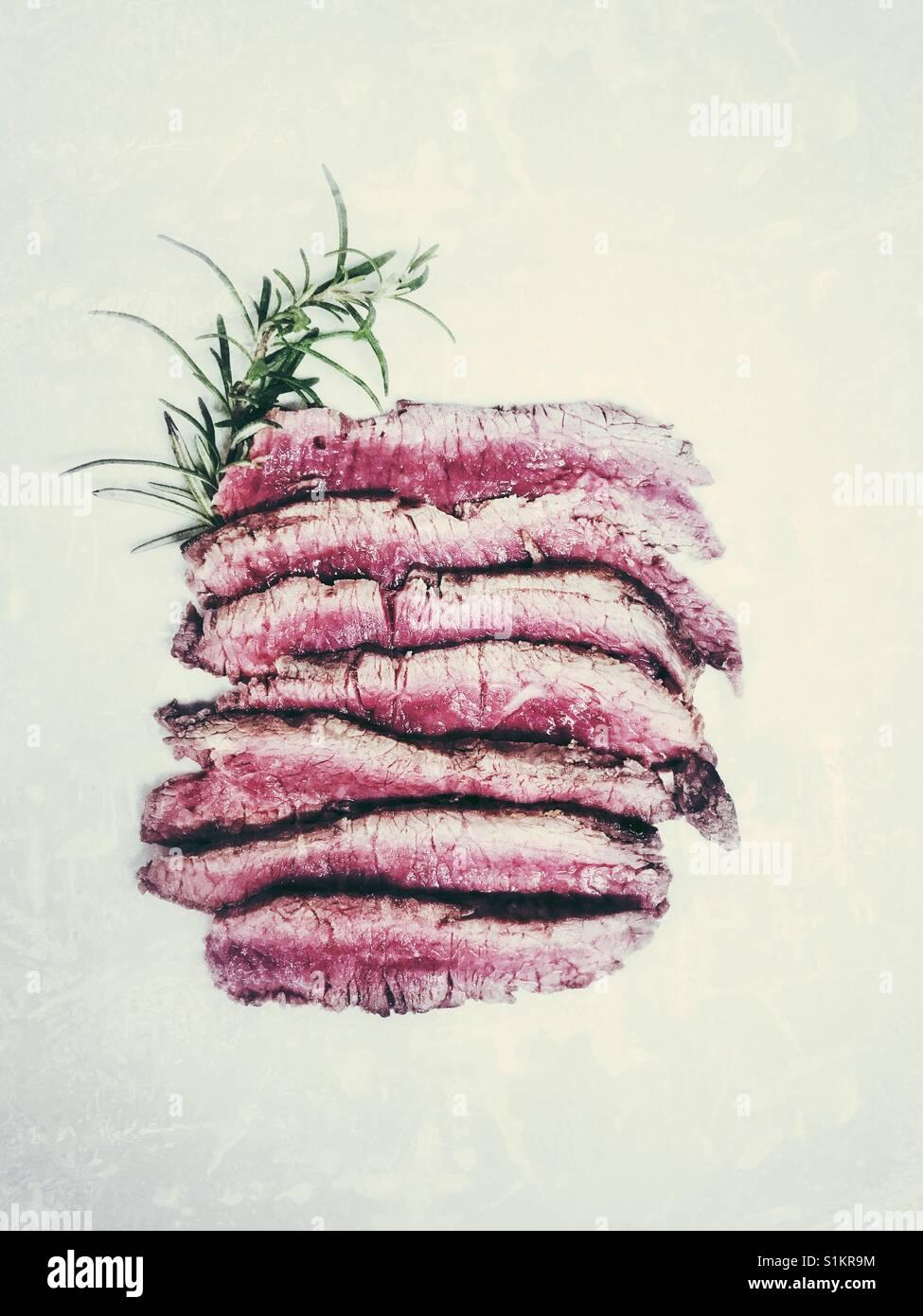 Mise à plat de bœuf Tagliata Photo Stock