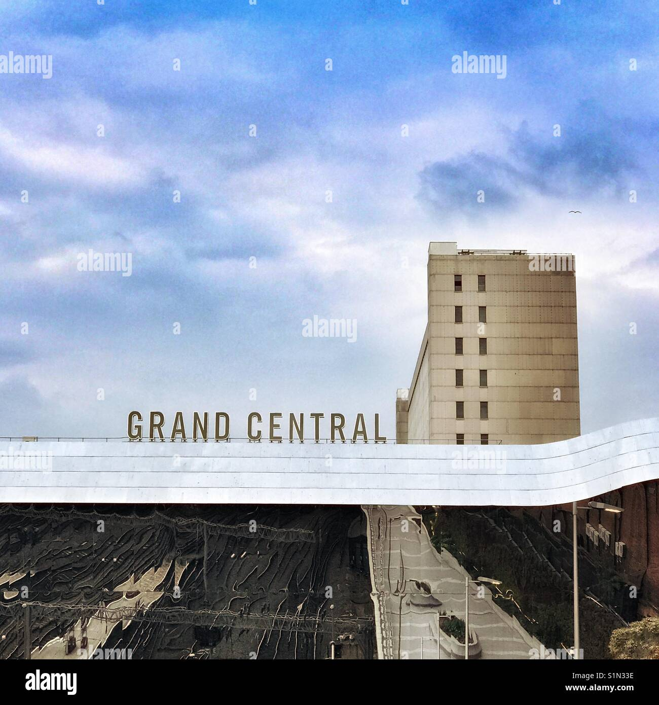 Gare de Grand Central autrefois connu sous le nom de la gare de New Street, Birmingham, UK Photo Stock