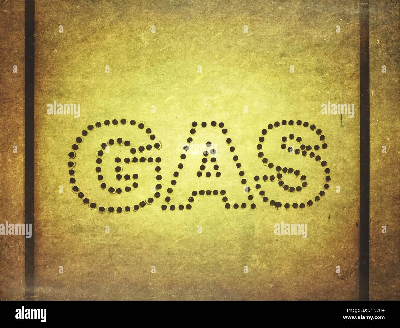 Mot de gaz à Photo Stock