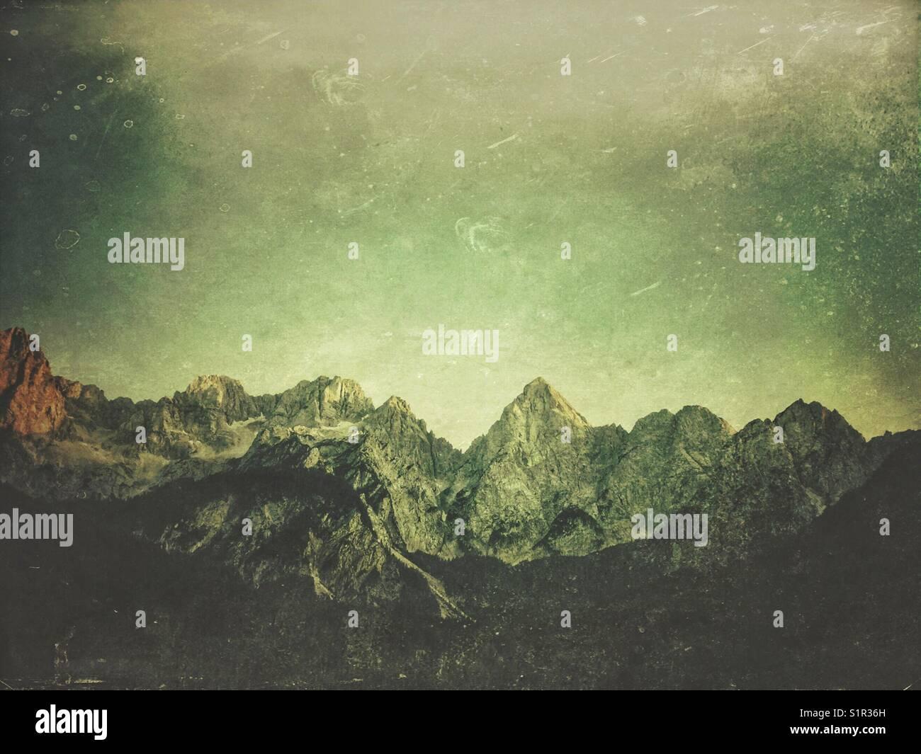 Chaîne de montagne martuljek, Alpes juliennes, en Slovénie Photo Stock