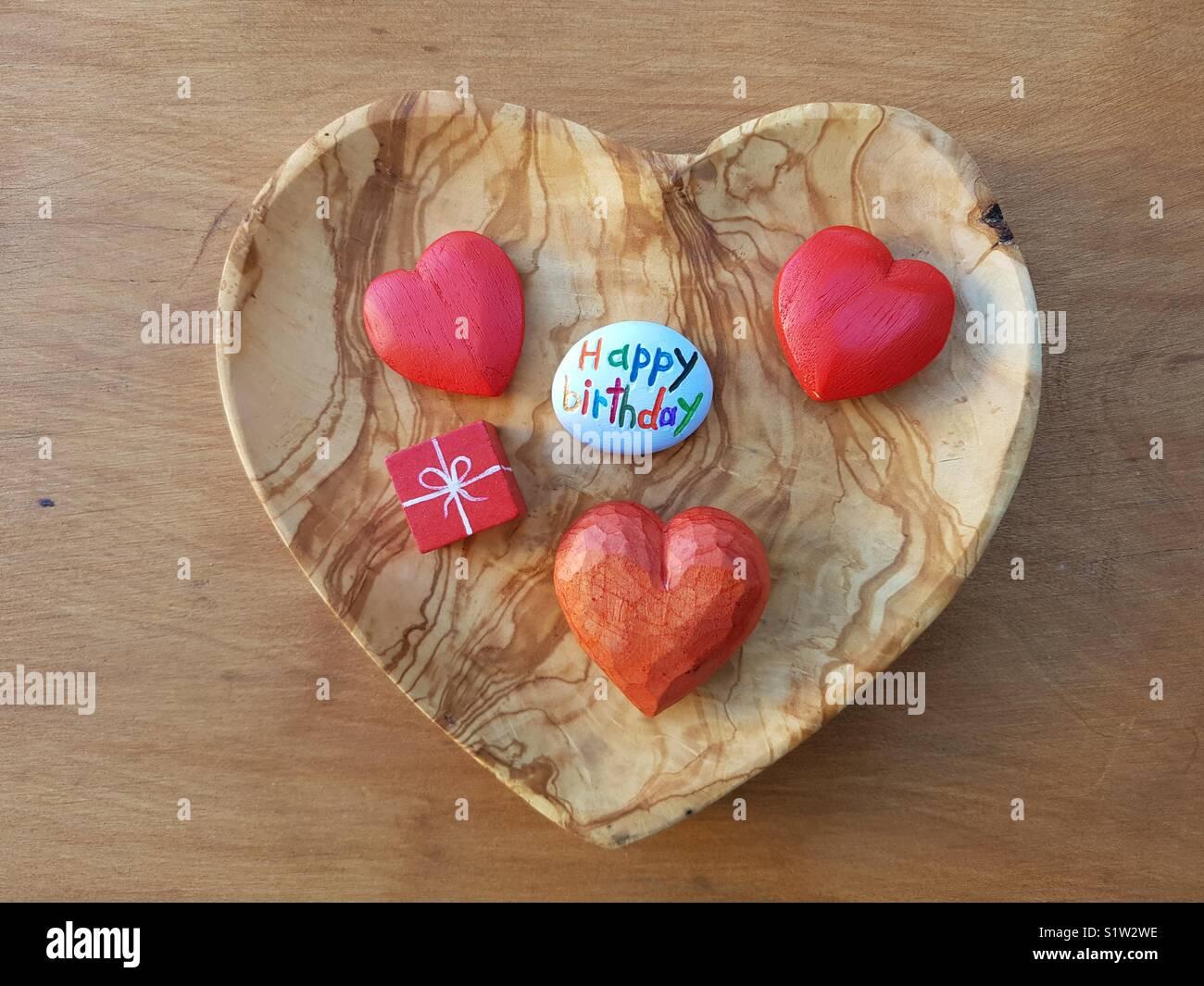 Joyeux Anniversaire à Vous De Tout Mon Coeur Banque Dimages