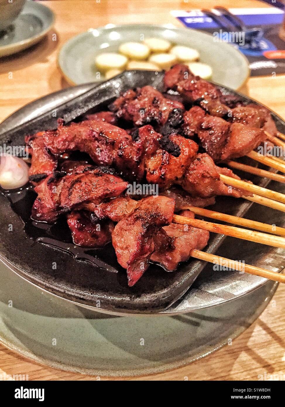 Satay de poulet Photo Stock