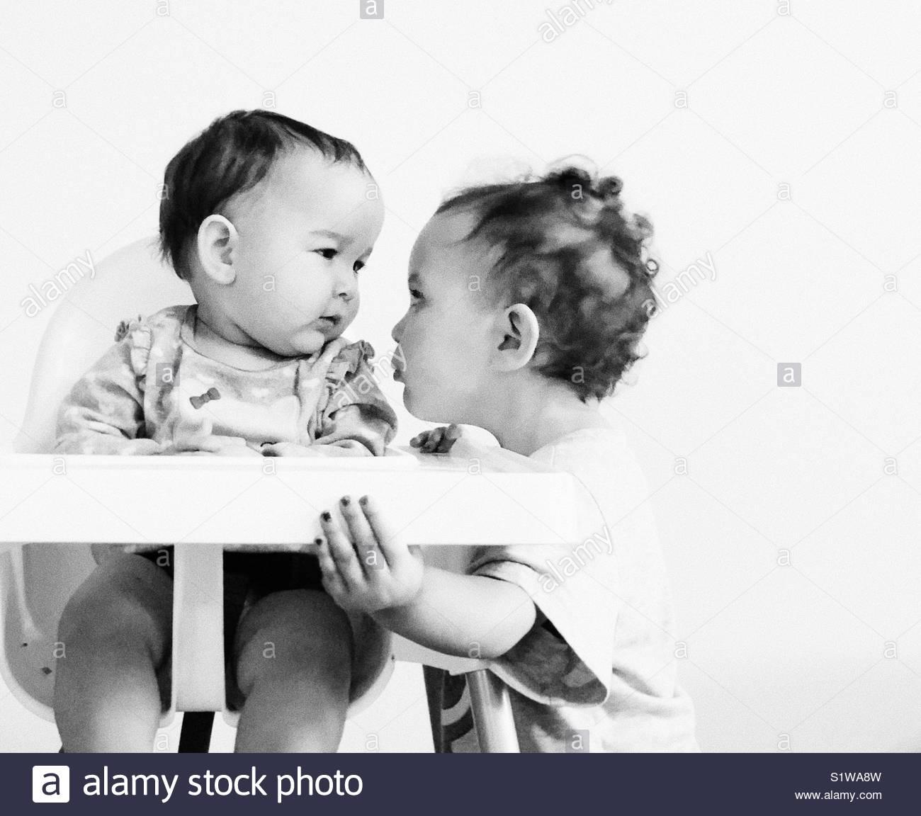 Amour d'enfant. Photo Stock