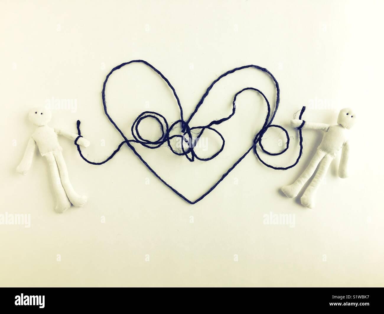 Conceptual relation dysfonctionnelle. Photo Stock