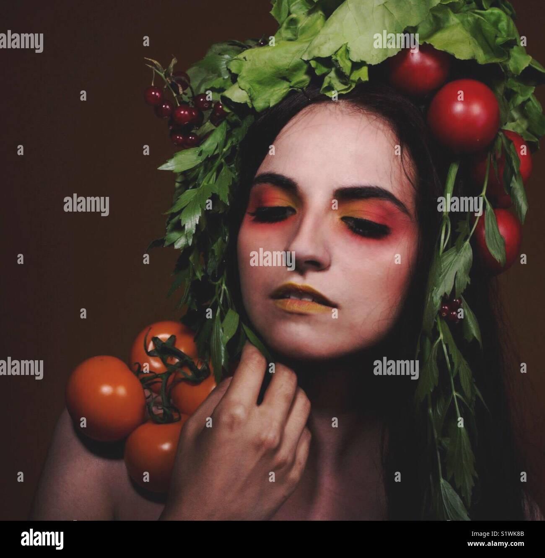 La déesse de l'abondance et la prospérité Photo Stock