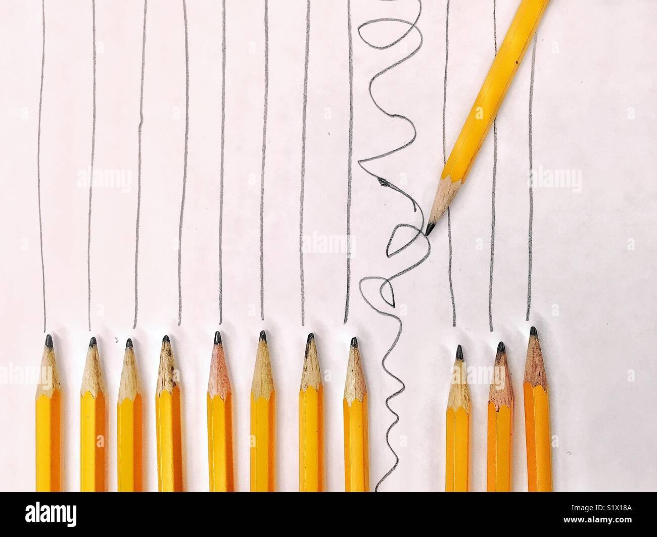 Osez être différent! Trouver votre chemin! Photo Stock