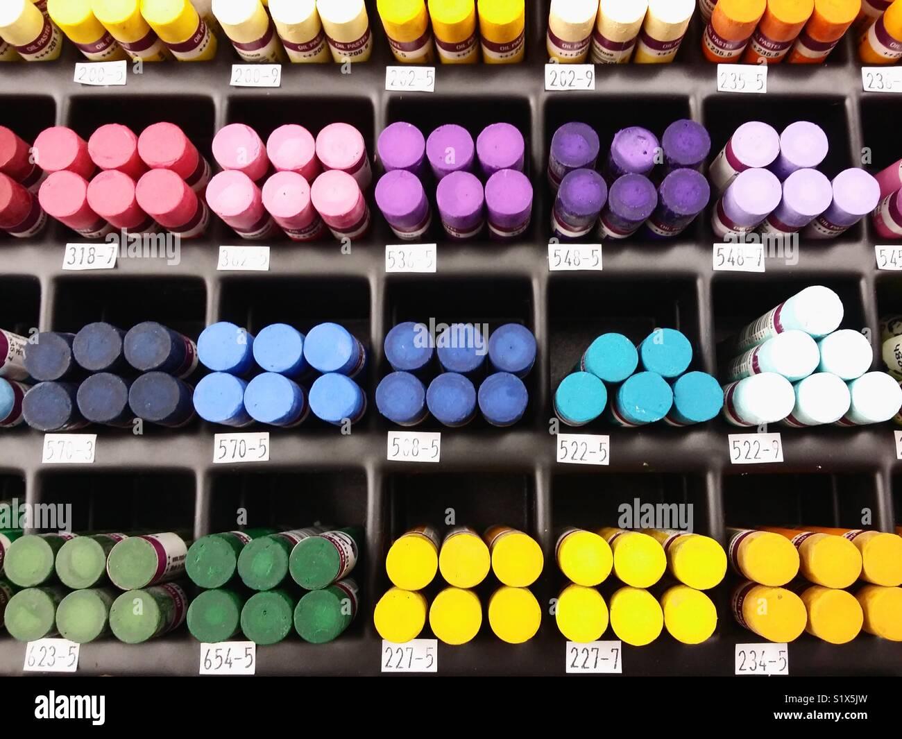Pastels Banque D'Images