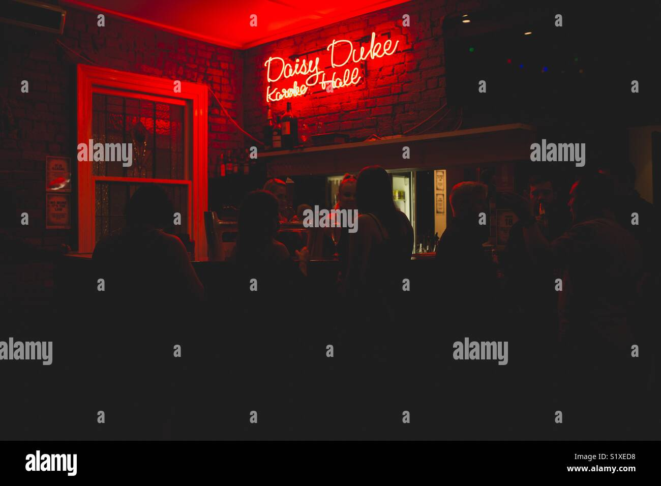 Barre supérieure au Johnny Ongri dans Fortitude Valley, Queensland Photo Stock