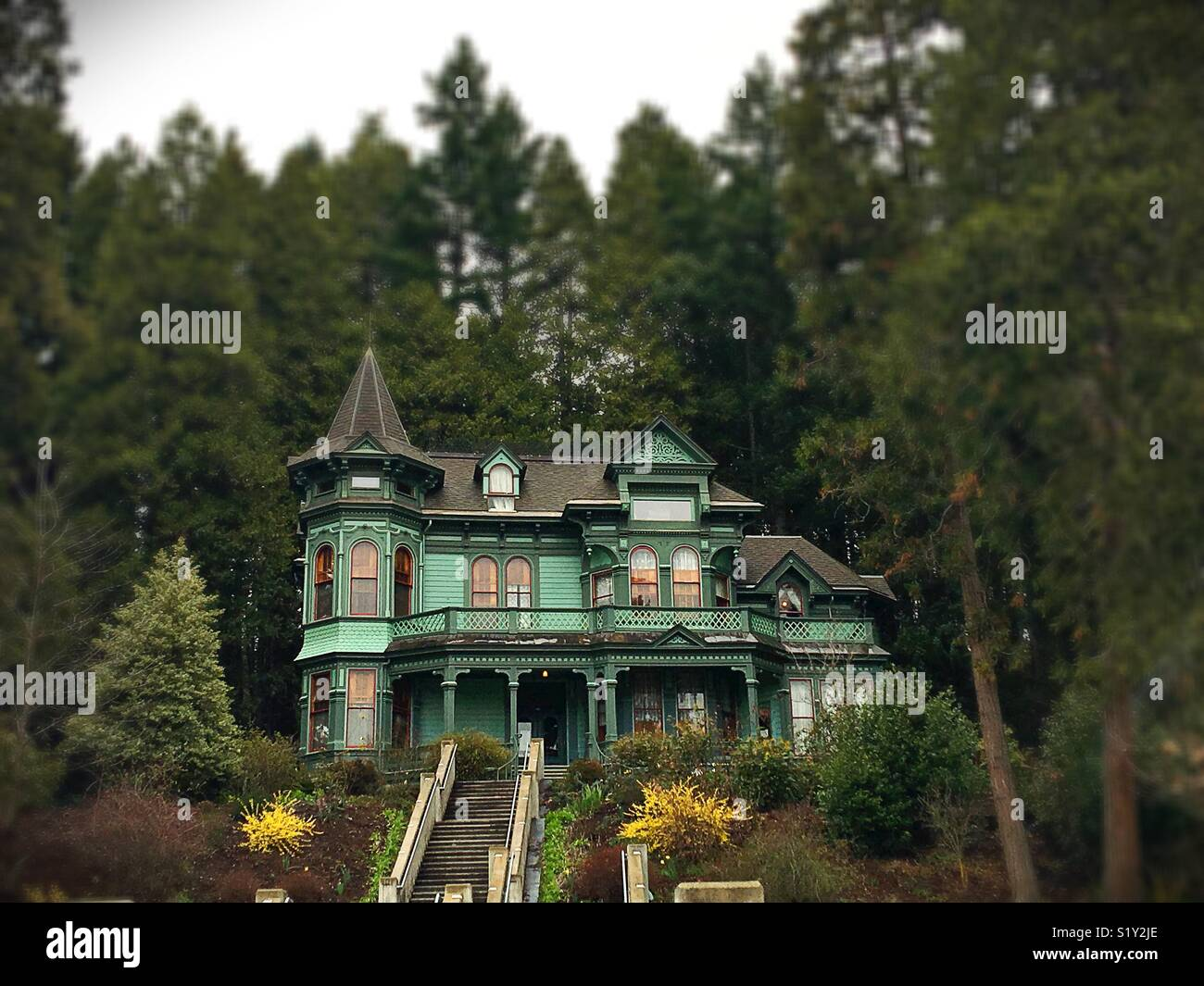 Shelton McMurphy Johnson House à Eugene, Oregon, USA. Photo Stock