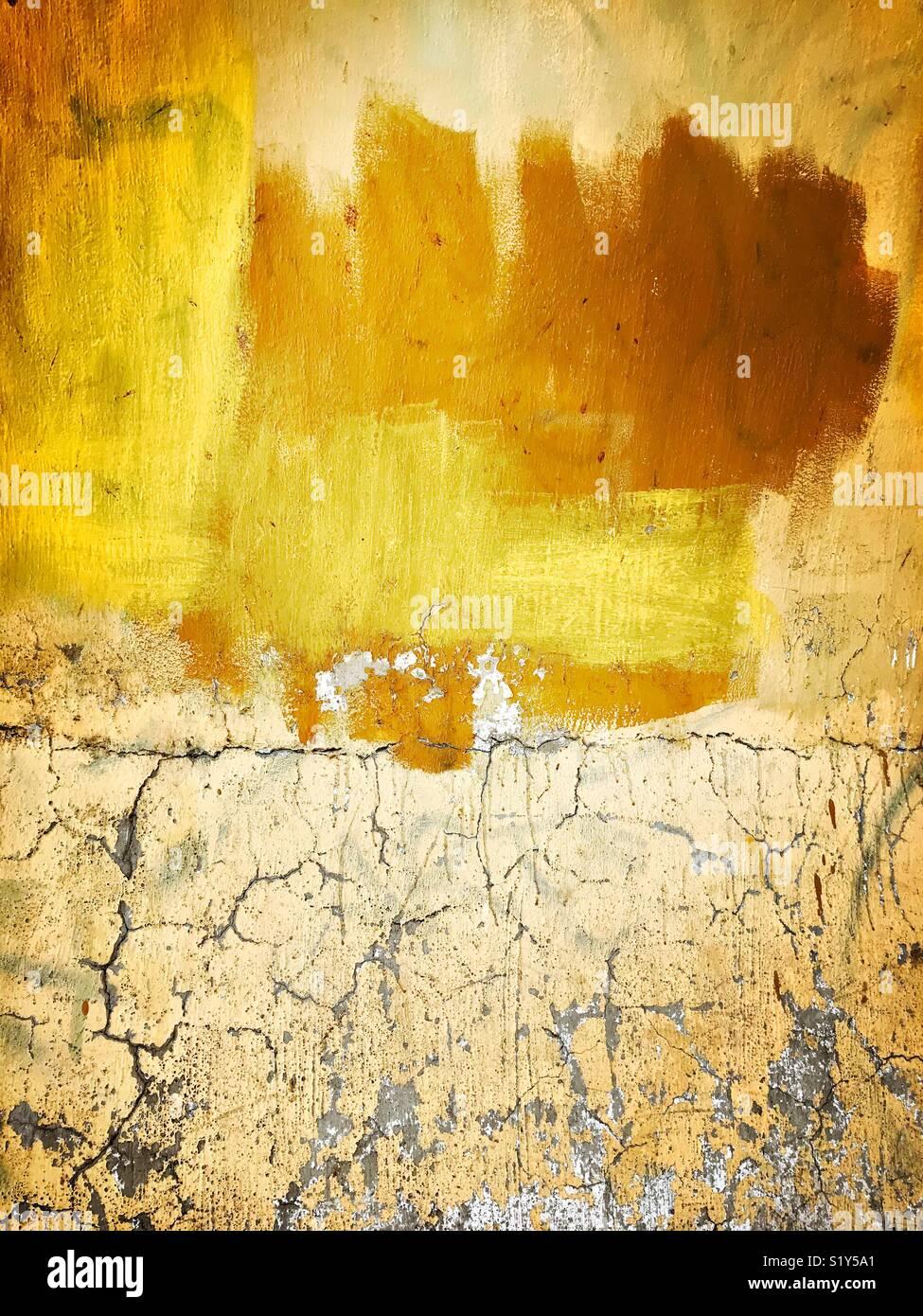 la peinture dans différents tons de jaune et brun sont aléatoirement