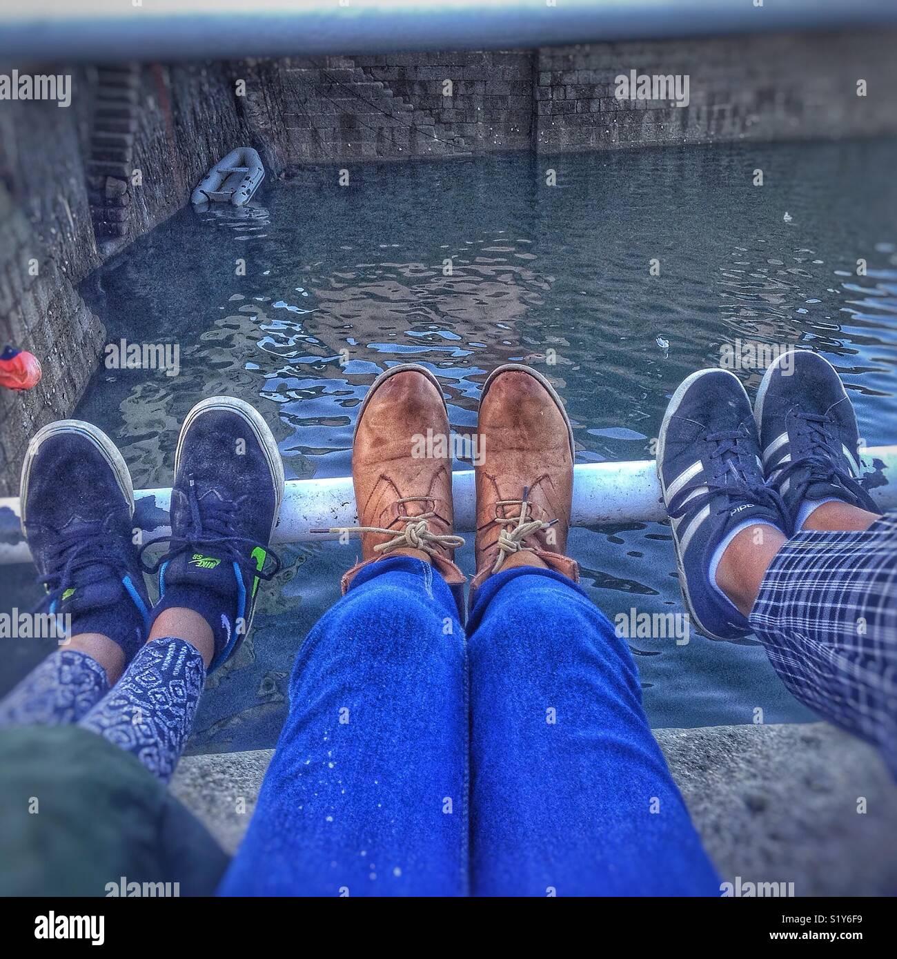 La ligne de l'amitié Photo Stock