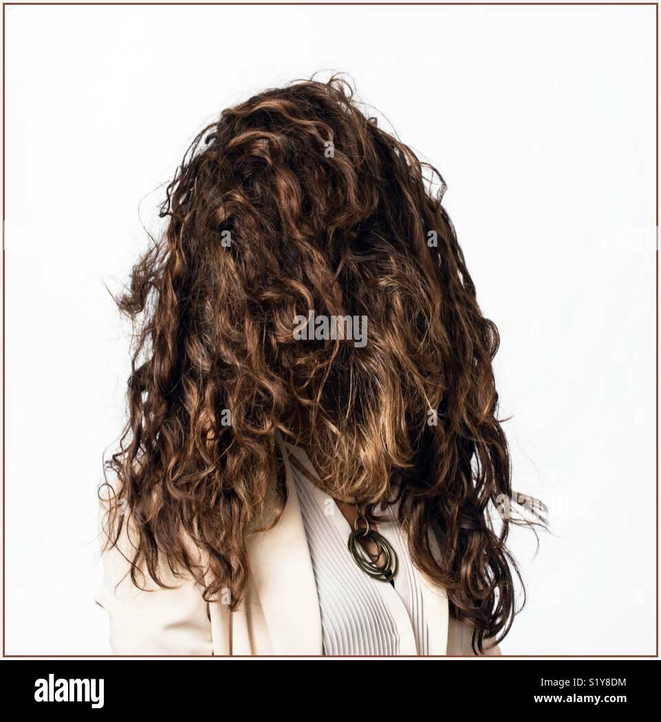 #Sèche##lotofhair curlyhair#darkbrown#belle# Photo Stock