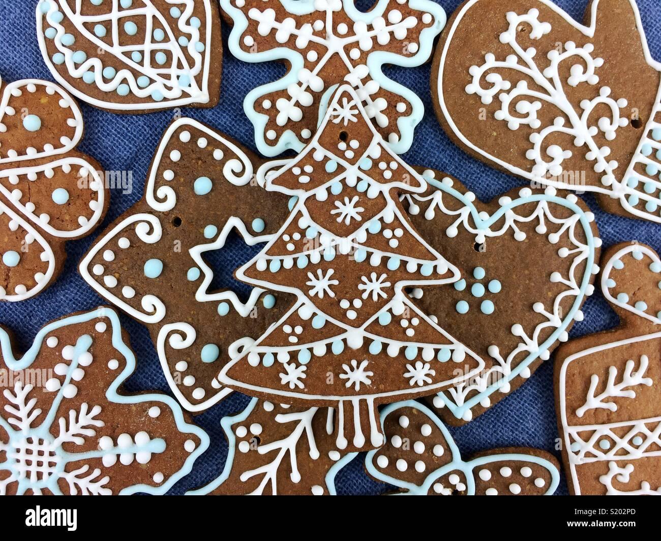 Décoration de Noël gingerbread cookies Photo Stock