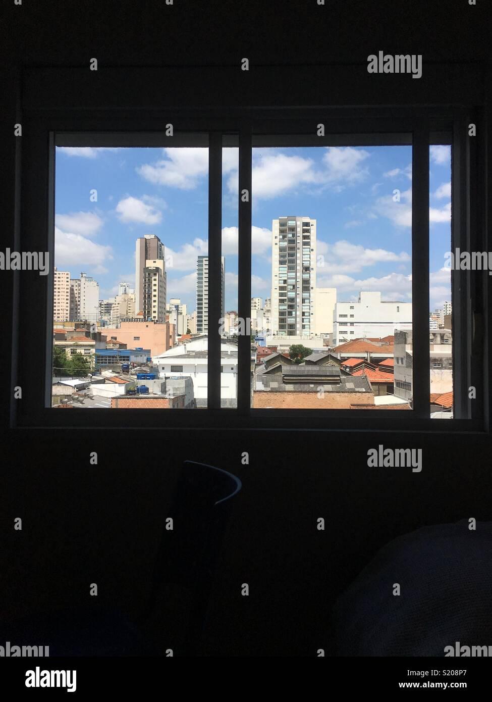 vue de la fenêtre Photo Stock