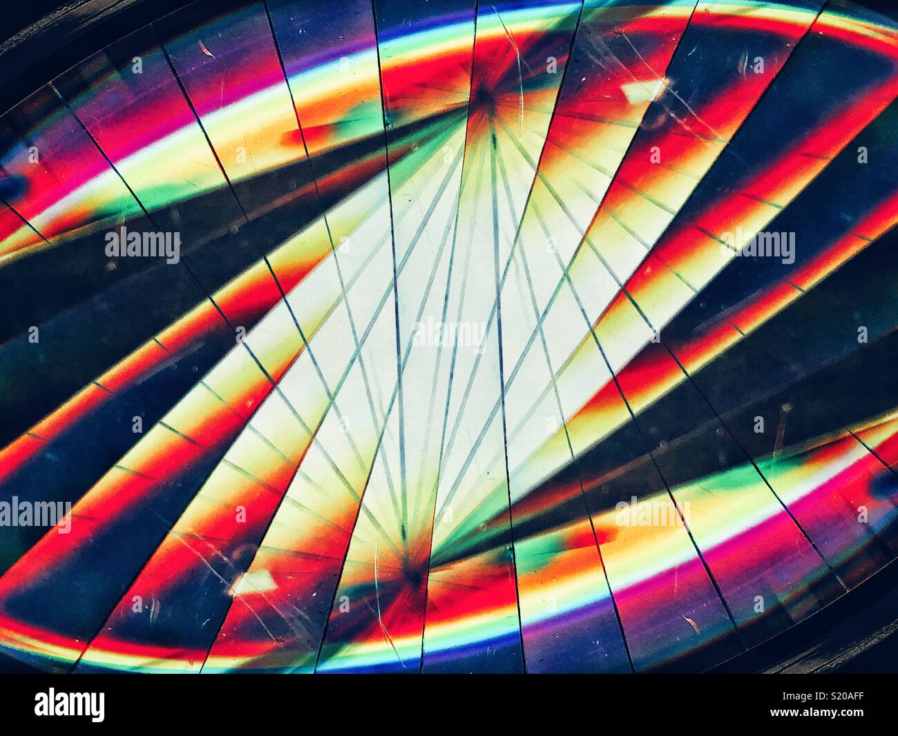 Lignes et de réfraction de la lumière concept Photo Stock