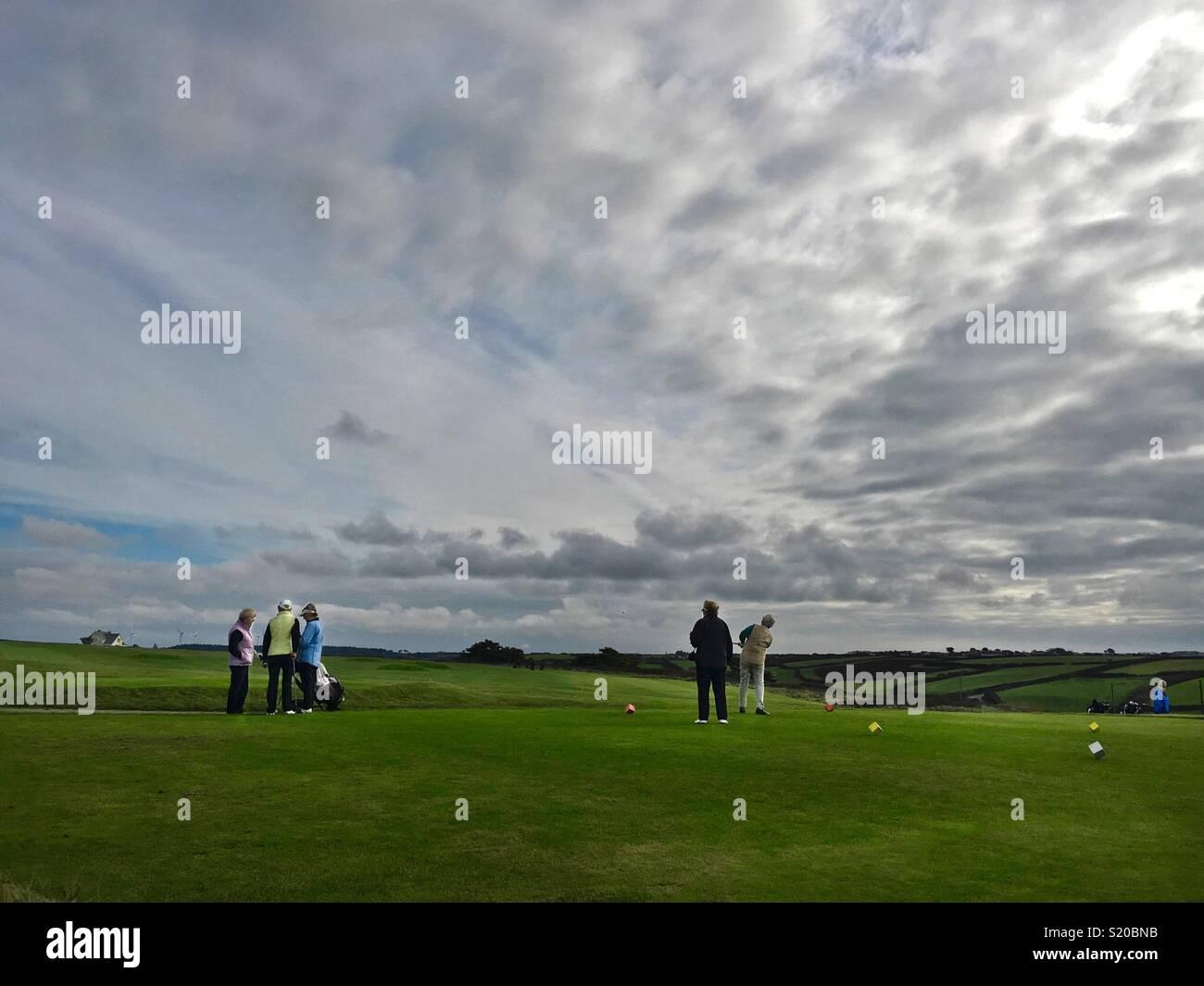 Chers jouer au golf Photo Stock