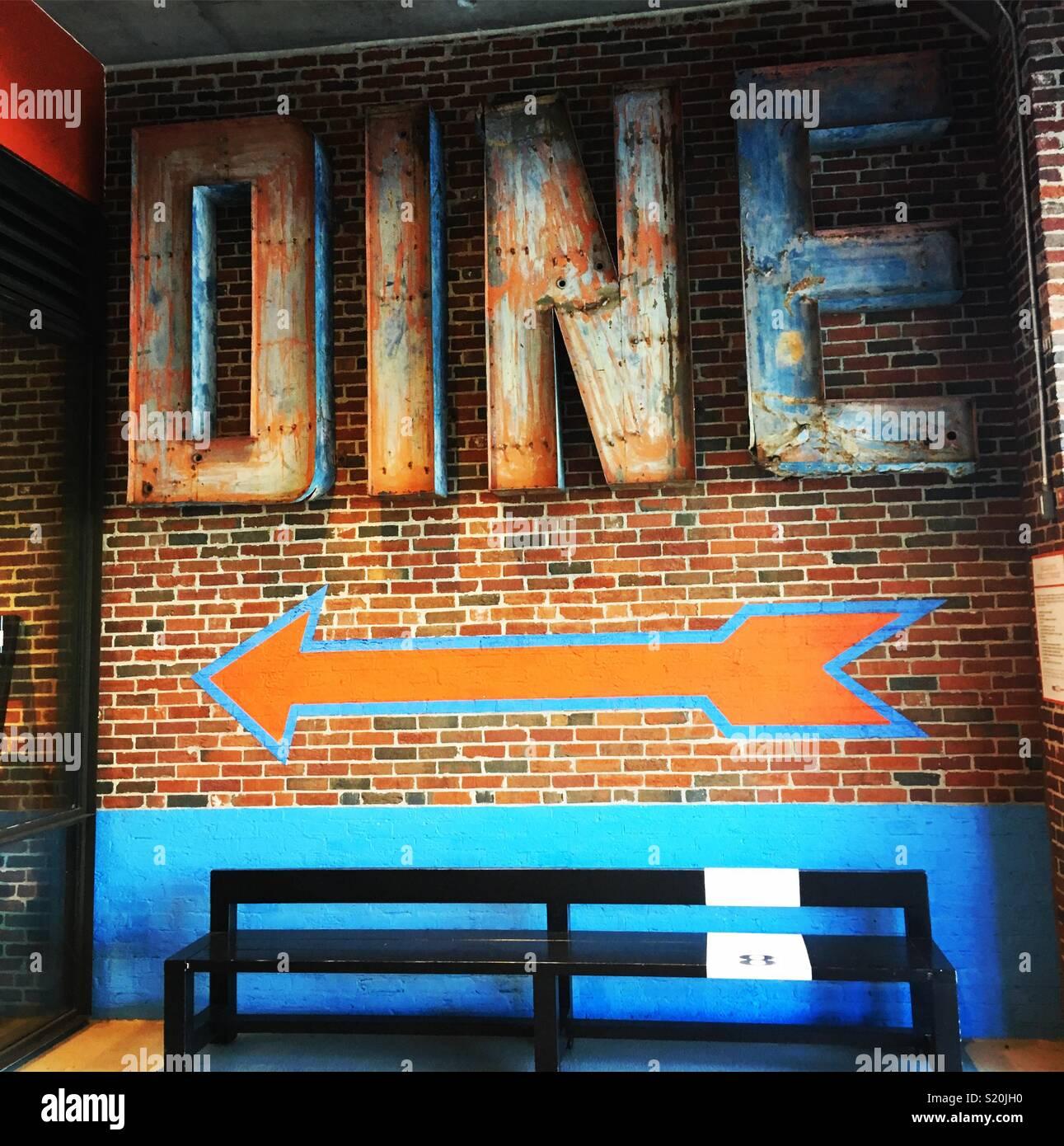 Un endroit pour manger Photo Stock