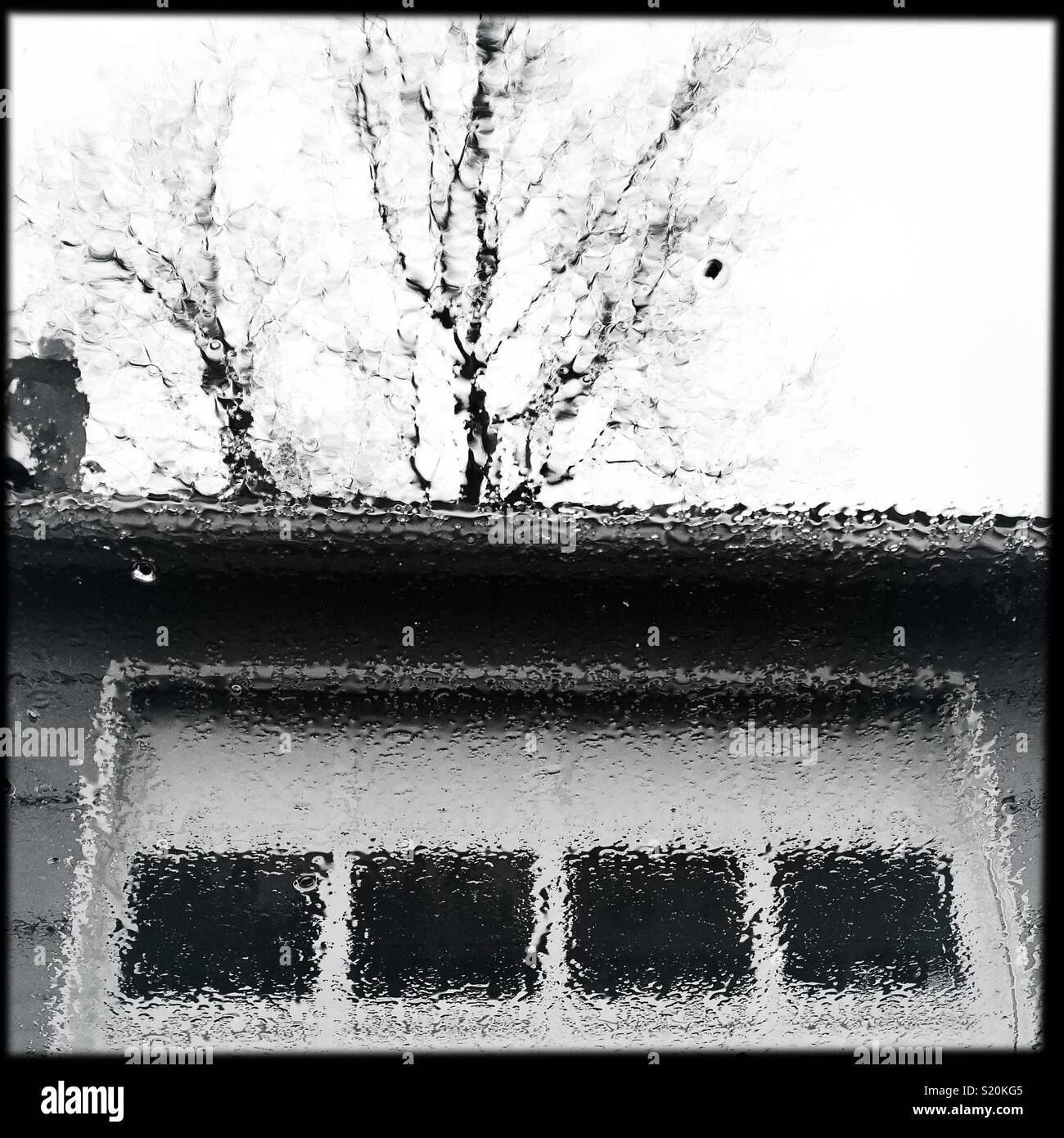 Matin de printemps pluvieux Photo Stock
