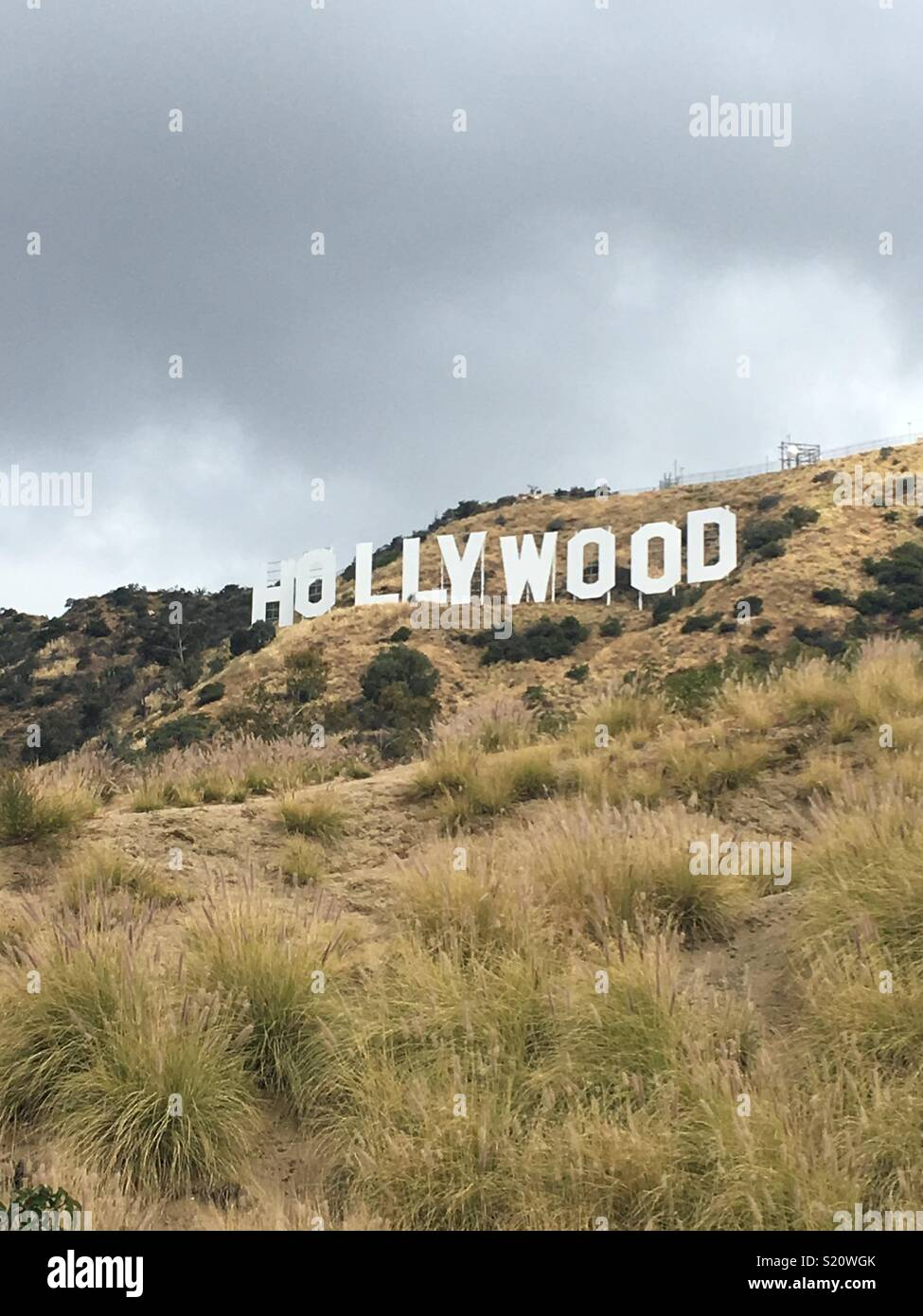 Hollywood dark cloud Photo Stock