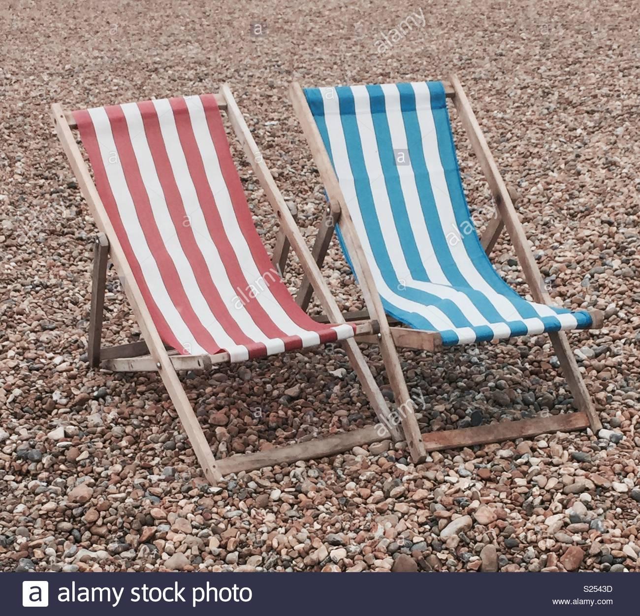 Chaises de Brighton Photo Stock