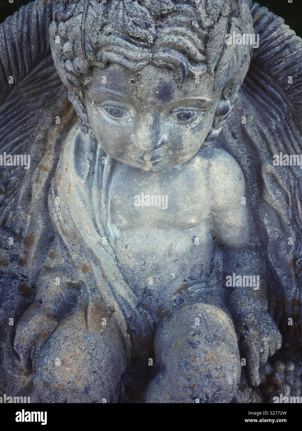 Forlorn angel à la statue. Photo Stock
