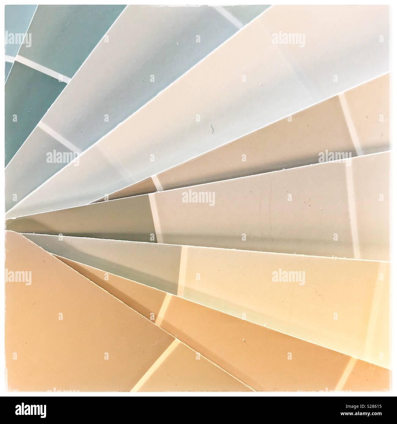 Nuancier de couleurs de peinture. Photo Stock