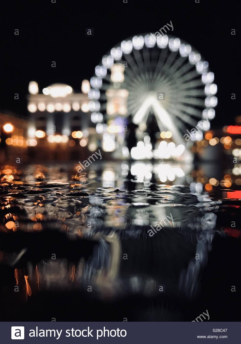 Célébrer nuit Photo Stock