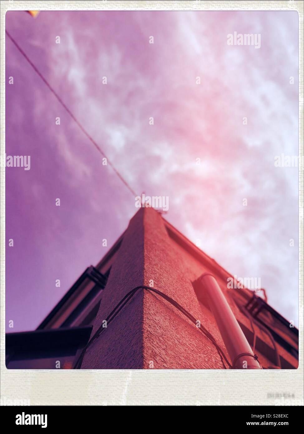 L'angle du bâtiment Banque D'Images