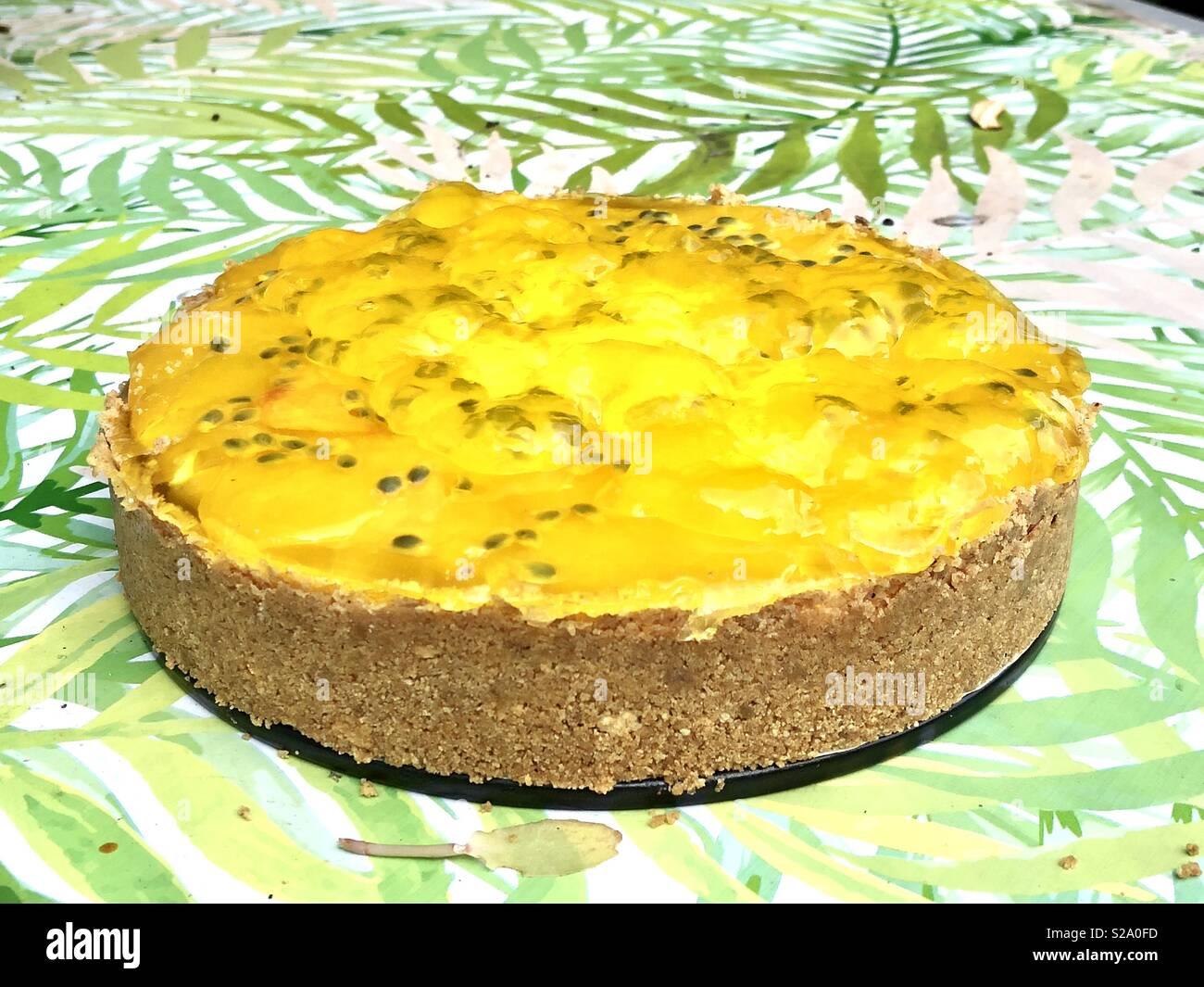 Gâteau au fromage fait maison Photo Stock