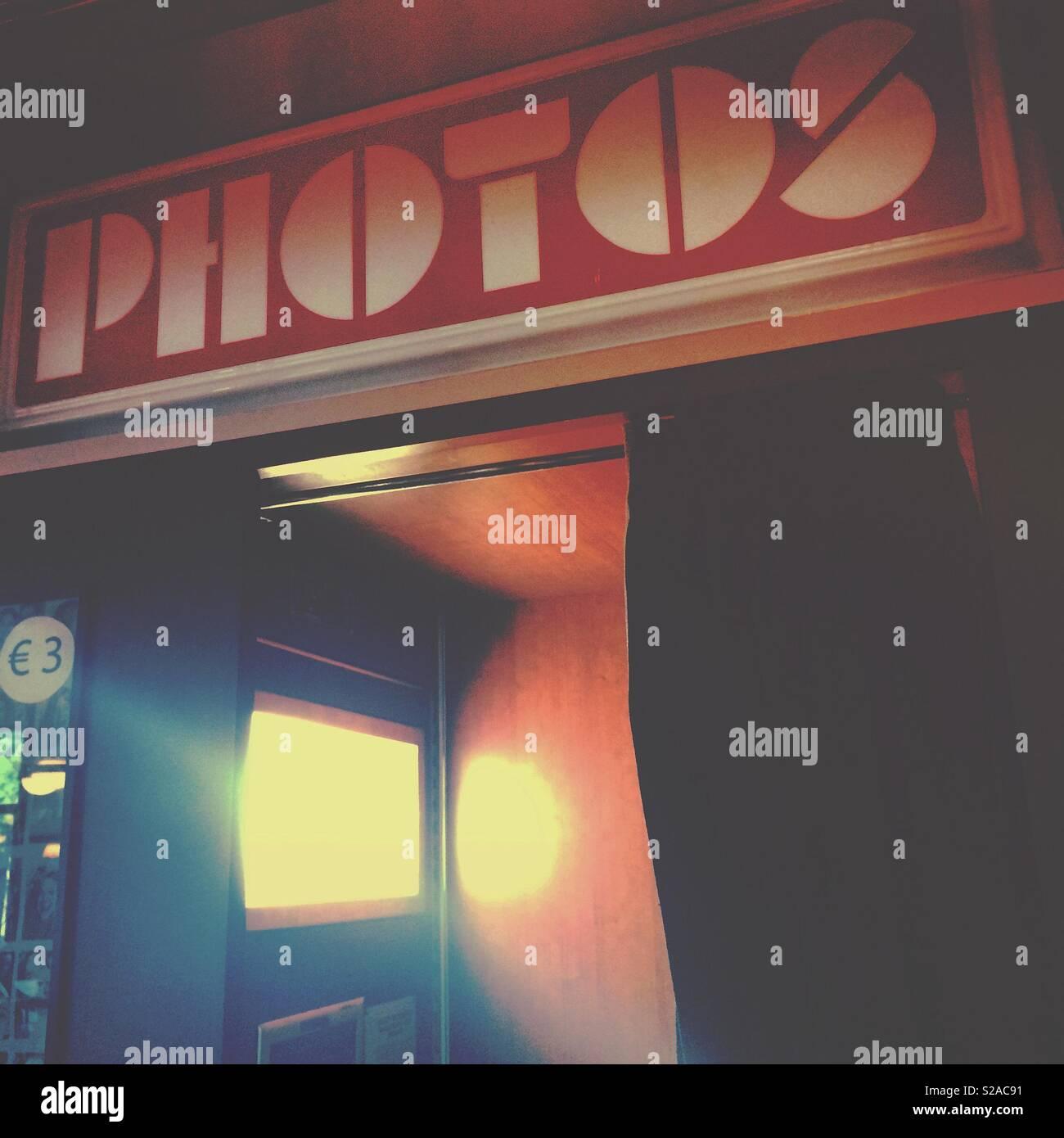 Un photo booth selfies Photo Stock