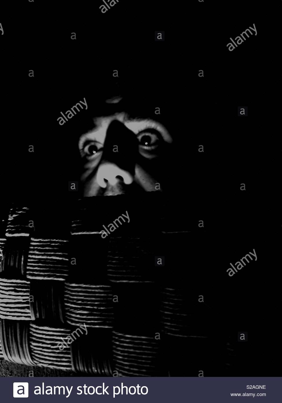 Face à l'insomnie Photo Stock