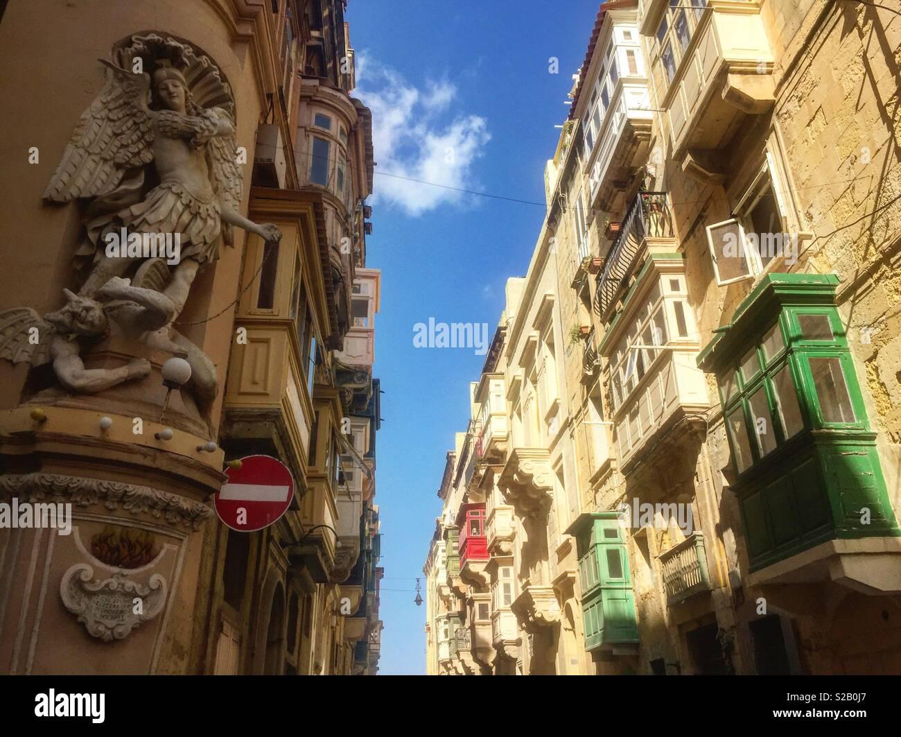 La Valette, Malte. Les villes européennes. Photo Stock