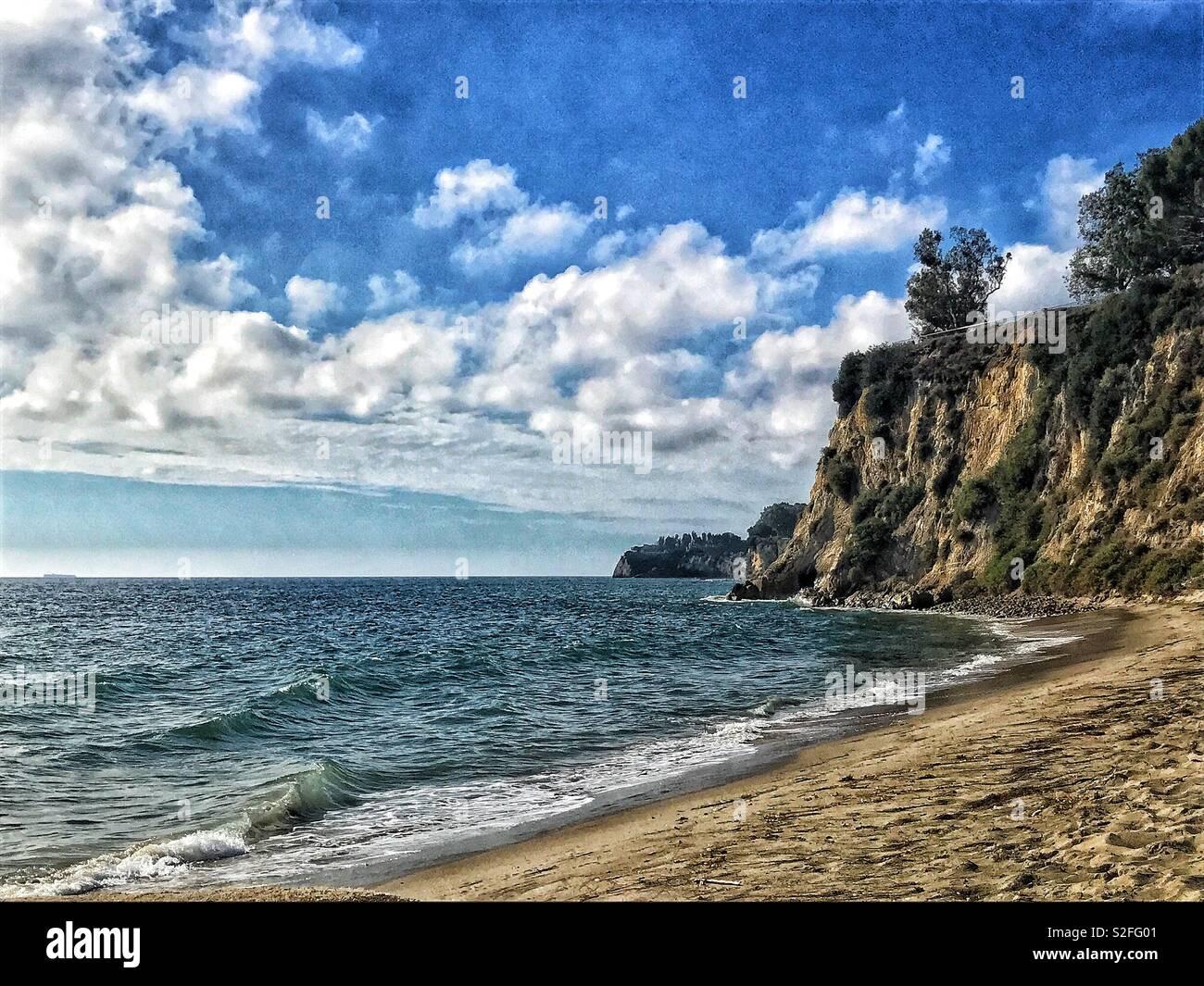 Les montagnes de l'océan Photo Stock