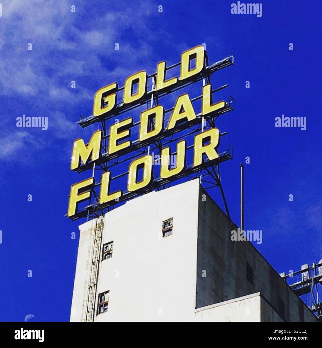 Médaille d'or de la farine Photo Stock
