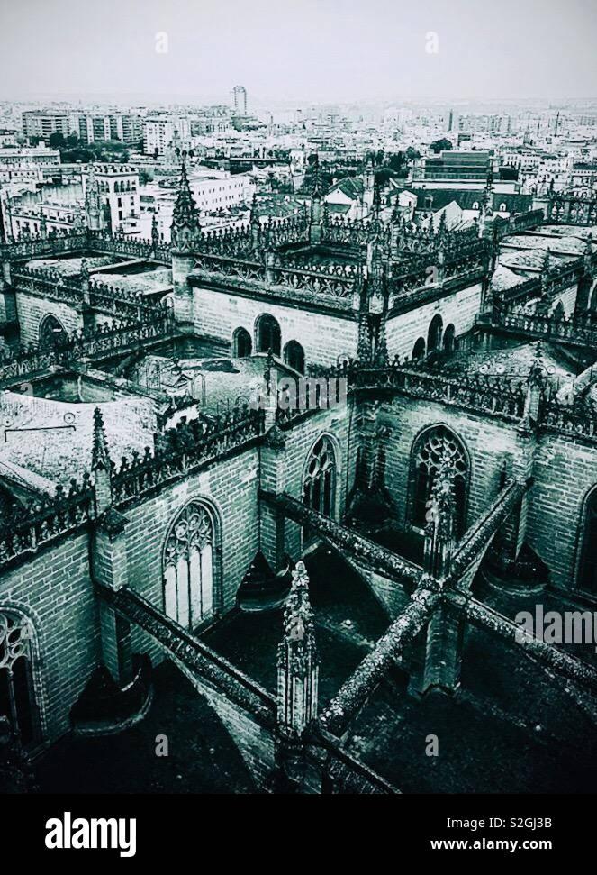 La Cathédrale de Séville Banque D'Images