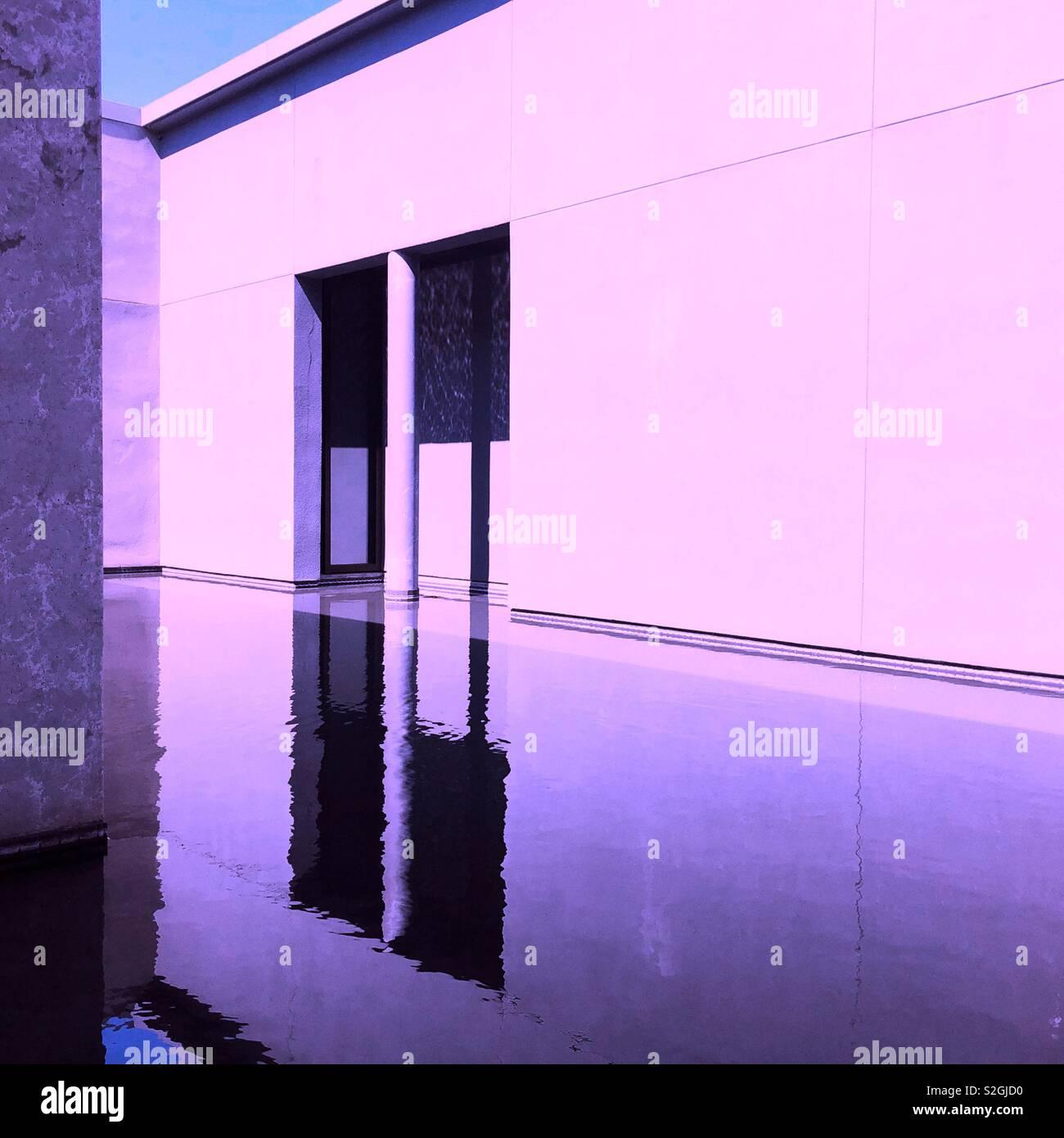 La réflexion de Purple haze Banque D'Images