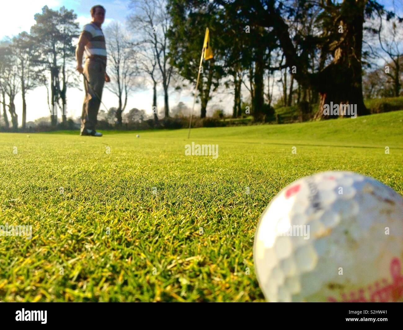 Être la balle!! Envoyer accueil Photo Stock