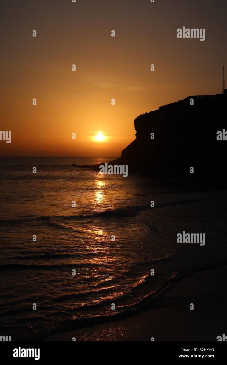 Lever du Soleil à 38 Grand Bay Photo Stock