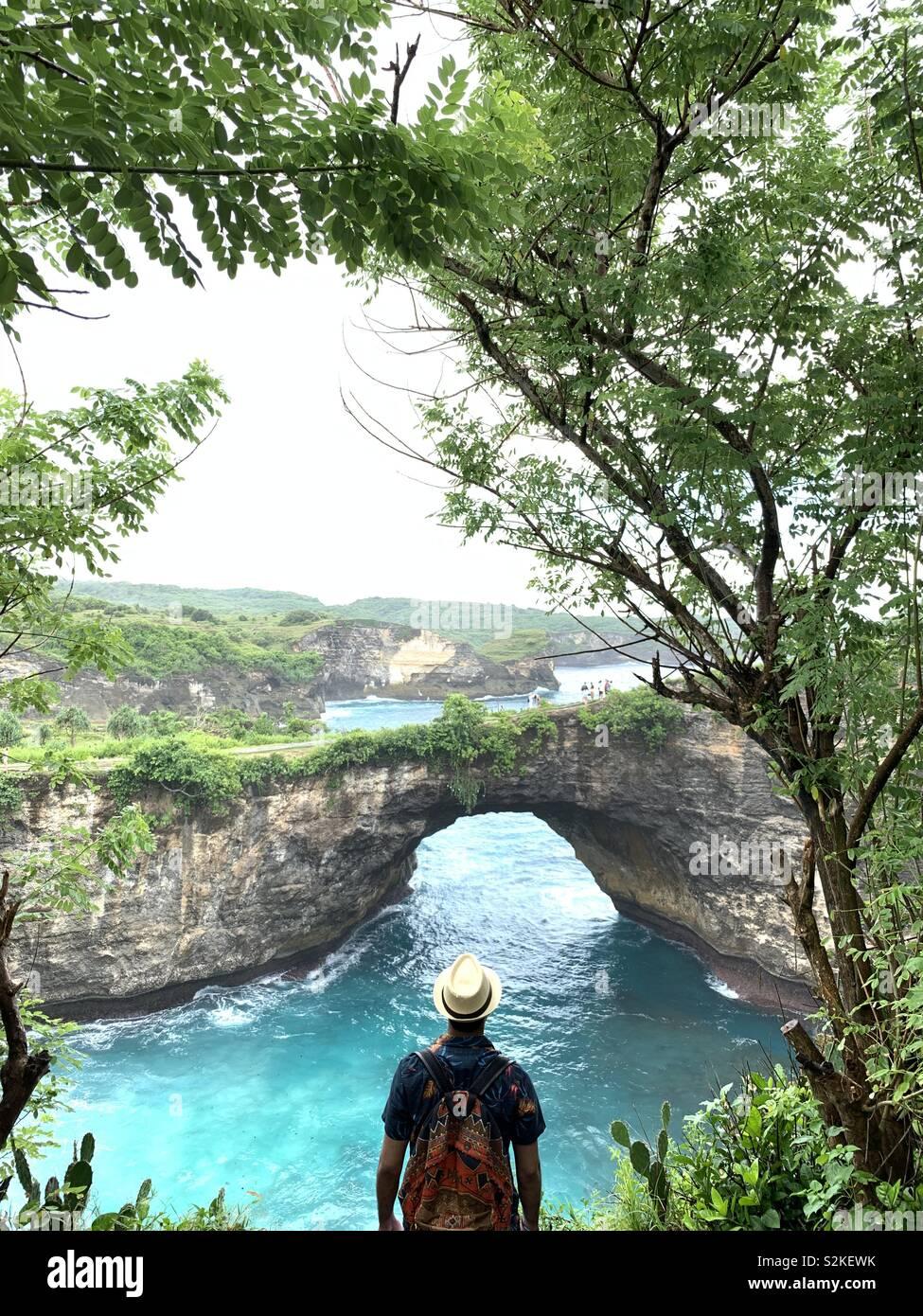 Plage de Nusa Penida , cassée Photo Stock