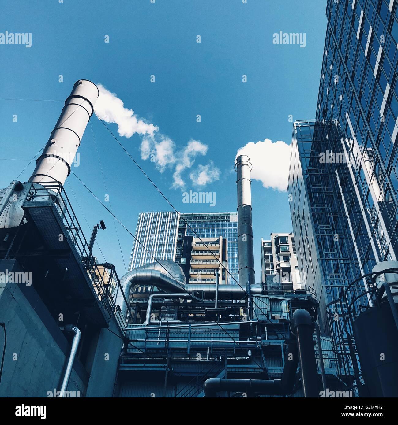 Bain à vapeur dans le centre-ville de Seattle Photo Stock