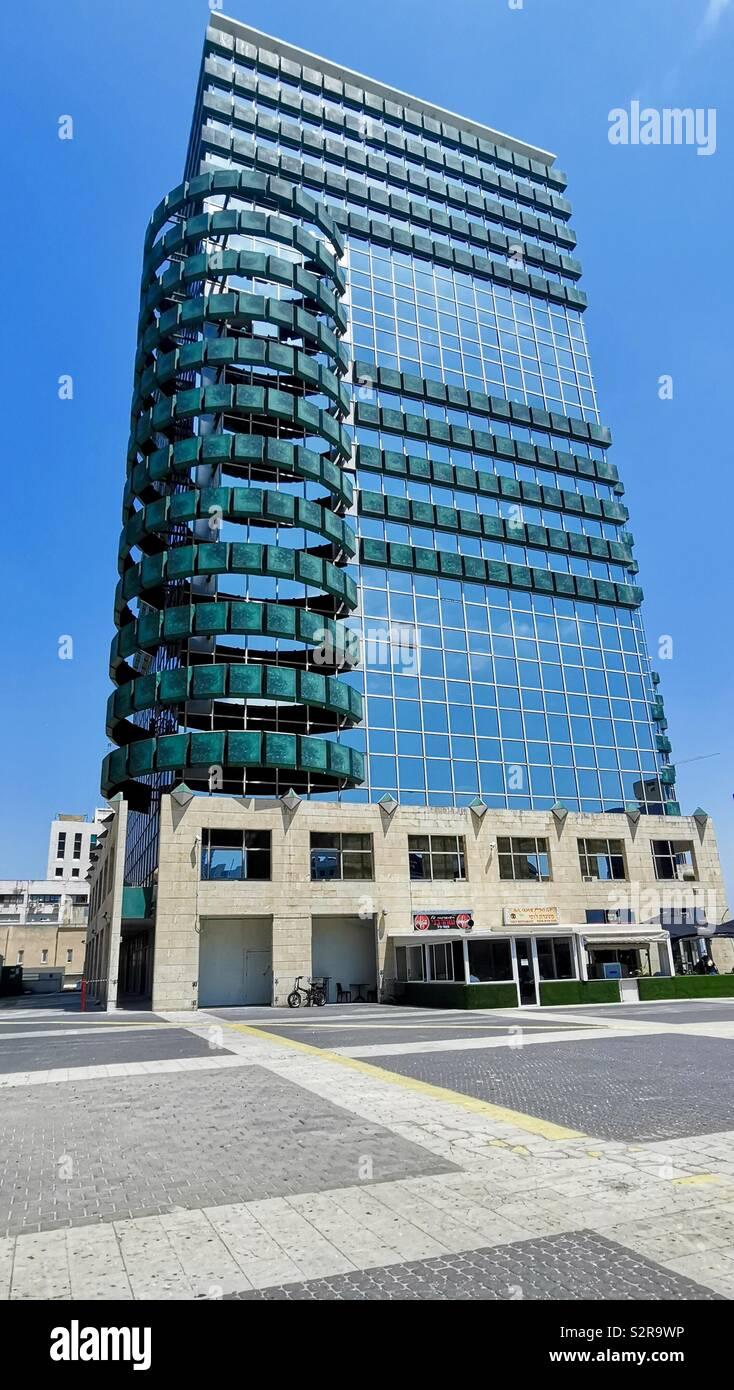Aviv Towers à Tel-Aviv. Banque D'Images